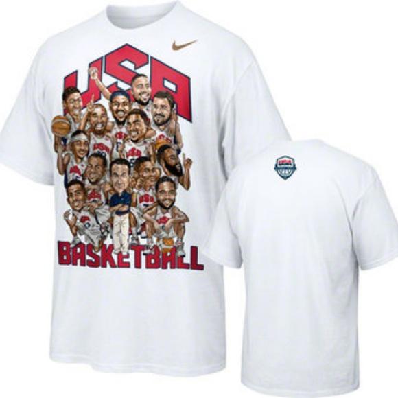 Team USA Basketball 2012 Olympics Roster tee M